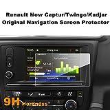 LFOTPP Navigation Protection d'écran pour Renault Twingo/Nouveau Captur/Kadjar 7 pouces Système de Navigation Film Protection en Verre Trempé - 9H Anti-rayures