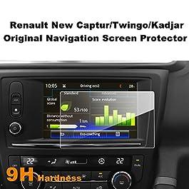 LFOTPP Renault Twingo Captur Kadjar 7 Pollici Navigazione Pellicola Protettiva in Vetro Temperato Screen Protector Film – 9H Antigraffio HD Alta Trasparente Glass