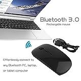 Delicacydex Black & White Universal Portable Ricaricabile Bluetooth 3.0 Gaming Mouse senza fili per PC portatili Tablet PC Mouse VML-09
