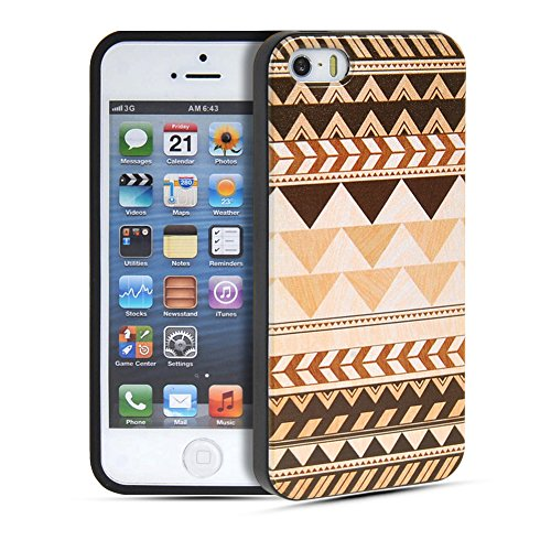iPhone 5 5S Coque,COOLKE [001] Fashion Trend Coque de protection en TPU Silicone Gel arriere Etui Housse Shell Molle Case Cover Pour Apple iPhone 5 5S 004
