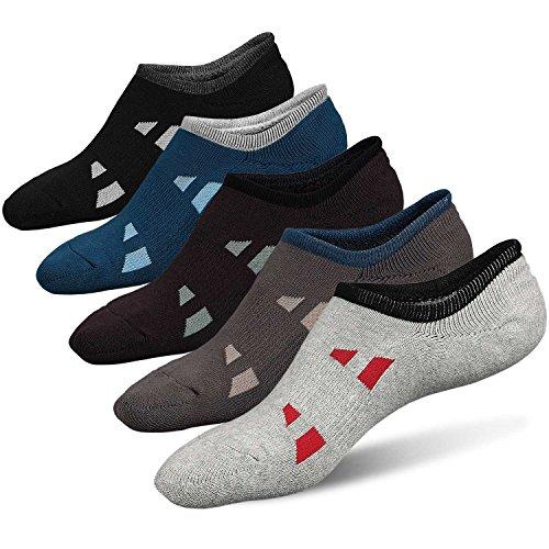 CaiDieNu Herren Baumwolle Kurzsocken und Sneaker Socken mit Plüschsohle, Männer Weit Ausgeschnitten Performance Funktionssocken für Sport Trekking Wander 5er Pack