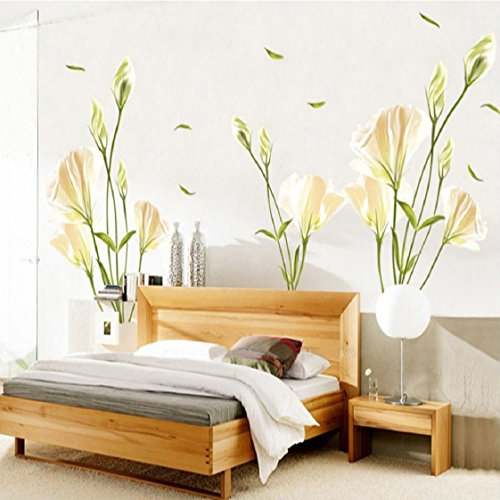Vovotrade® Lily DIY Amovible Stickers muraux Art Stickers Décor Mural