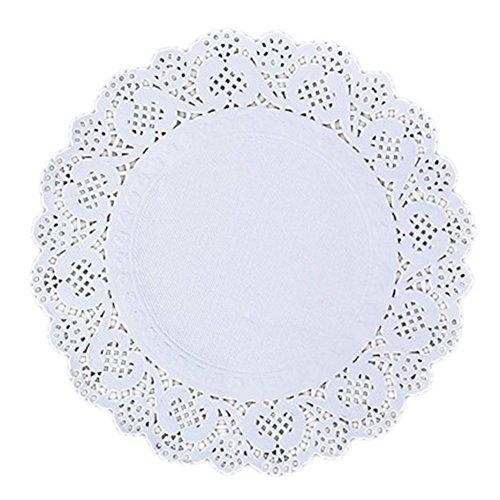 150x Milopon Napperon en Papier avec Dentelle Décoration Gâteau Blanc Pour Pâtisseries Cookies Fête 26.25cm
