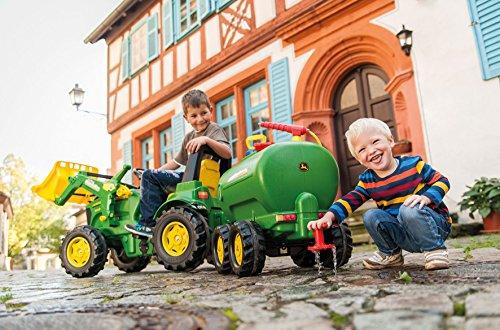 Rolly Toys 122752 rollyTanker John Deere | Fassanhänger voll funktionsfähig | Tankwagen inkl. Pumpe, mit Spritze und Auslaufhahn | für Kinder ab 3 Jahren | Farbe grün | TÜV/GS geprüft - 2
