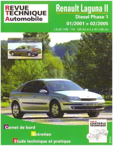 Revue Technique 653.2 Renault Laguna 2 Diesel Depuis 01/01