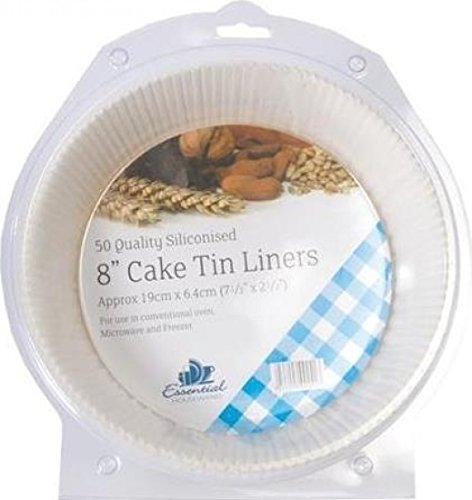 """Pack of 50 Greasproof 8"""" Cake Tin Liners"""