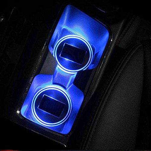 Sedeta® Led Auto Becherhalter Matten-Auflage-wasserdichte Flasche Getränke-Untersetzer-Licht-Sensor-Schalen-Auflage Coaster Matte für SUV Fahrzeuge LKW
