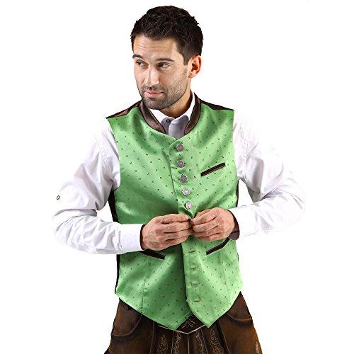 Almbock Trachten-Weste Lorenz exclusiv in grün, für Männer in Gr. 46 48 50 52 54 56 58, Hochzeit und Oktoberfest,edel, xxl xxxl