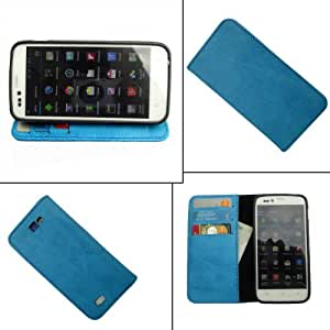 i-KitPit - PU Leather Wallet Flip Case Cover For Samsung Galaxy Grand Duos (SKY BLUE)