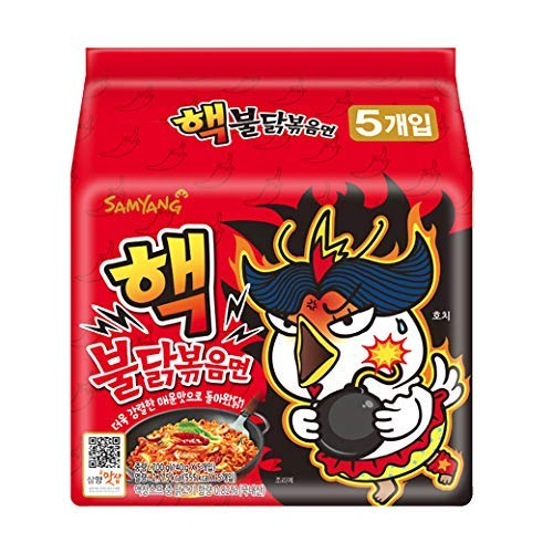 [Samyang] Re-Release! Scoville Heat Units (SHU) 10,000! HACK Bulldark Spicy Chicken Roasted Noodle Soup (Pack of 5) / Korean Food/Korean Ramen (Overseas Direct Shipment)
