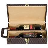 Weinkoffer für 2 Flaschen - Hochwertige Geschenkidee für Ihren lieblings Wein. Geschenkverpackung
