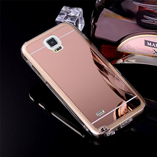 Custodia Cover per Samsung Galaxy Note 3, Ukayfe Cover Specchio Lusso Placcatura Lucido di Cristallo di Scintillio Strass Diamante Glitter Caso per iPhone 7 Plus[Crystal TPU] [Shock-Absorption] Protet Oro rosa 2#