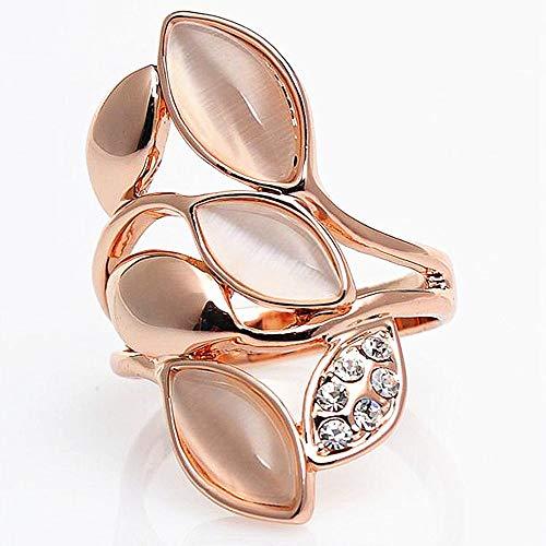 MLL Yiwu Schmuckstück Rose Gold Opal Diamant Ring,Gold,Nummer 7 (Rose Gold-diamant-opal-ring)