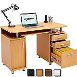 Großer Computertisch Scrheibtisch Arbeitsplatz Tisch Unterschrank Schubladen Piranha BUREAU PC 2b