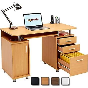 dallas computer desk 3 1 lockable drawer cupboard beech effect kitchen. Black Bedroom Furniture Sets. Home Design Ideas