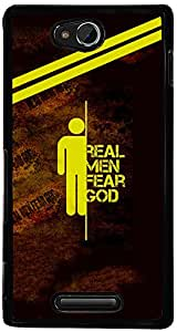 PrintVisa Boy Quotes Men Case Cover for Sony Xperia C