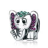 YOUFENG Jewellery Lucky Elefant Charm Anhänger Niedliche Tiere Emaille Charms Passform Schlange Kette Armband Frauen Schmuck Geburtstag Geschenke