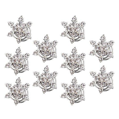 10 Stück Simulierten Kristall Schneeflocke Strudel Haar Verdreht Spulen Spiralen Haarspange Clip Zubehör für Hair Style -