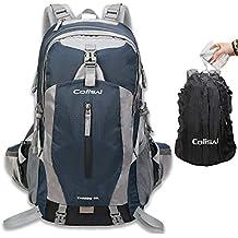 Colisal 40L Mochila Senderismo Mochilas Trekking Mujer Hombre con Funda Cubierta Impermeable de Mochila para Alpinismo