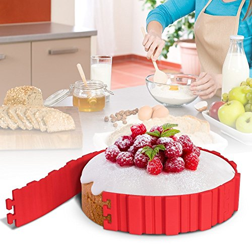 Miaogo Cupcake förmchen Kuchenform Silikon Form, Tortenring DIY Alle Arten von geformt Sie mögen(rot)