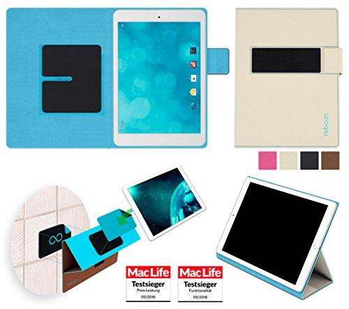 reboon Hülle für Blaupunkt Polaris QC Tasche Cover Case Bumper | in Beige | Testsieger