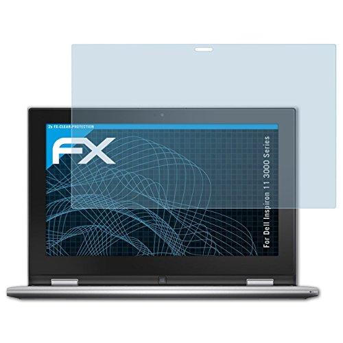 atFolix Schutzfolie kompatibel mit Dell Inspiron 11 3000 Series Folie, ultraklare FX Bildschirmschutzfolie (2X)