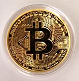 BitCoin Shop .999 Fine Commemorative Round Collectors Coin - Bit is Gold Plated Copper Physical