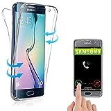 Coque 360° Compatible avec Samsung Galaxy S6 Edge, Housse Etui en Silicone TPU...
