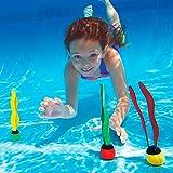 Kelaina 3PCS Funny Kids Erwachsene Schwimmen sinkend Tauchen Pool Kunststoff Algen Ball