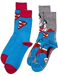 Oficial Retro Superman calcetines de varios set de regalo (2pares, 7–11