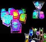 CDQ Multicolor [Eiswürfel Light] -24 Pack dekorative LED-Flüssigkeitssensor Eiswürfel-Form-Licht Unterwasser -LED-Glühen-Licht Für Bar Club Hochzeit Champagne Turm Dekoration Flash Light