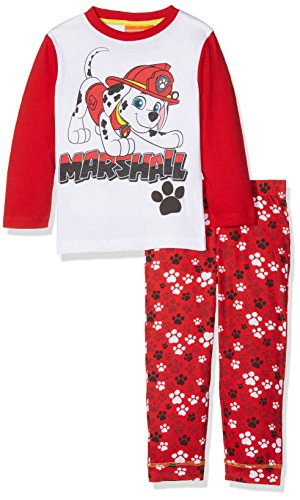 Nickelodeon Jungen Paw Patrol Pawfect Team Pyjama-Sets, rot, 2-3 Jahre