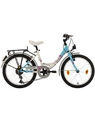 KS Cycling Mädchen Fahrrad Dacapo Florida RH 34 cm, weiß/blau, 20, 402D