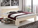 Unbekannt Massivholz-Bett Nano weiß 200 x 200 cm aus Kernbuche, Doppelbett, als Ehebett verwendbar, inkl. Rückenlehne, 1 Bett á 200 x 200 cm Test