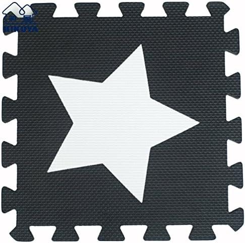 Hommes u Life Noir et blanc étoile 10 10 10 pièces Eco souple Tapis de jeu pour enfants en mousse EVA Tapis Tapis de sol | Outlet Store Online  537ad1