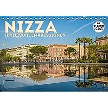 NIZZA Idyllische Impressionen (Tischkalender 2019 DIN A5 quer): Sehenswerte Plätze der Stadt (Geburtstagskalender, 14 Seiten ) (CALVENDO Orte)
