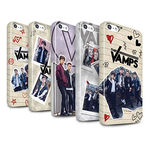 Offiziell The Vamps Hülle / Glanz Snap-On Case für Apple iPhone 5/5S / Ausgeschnitten Muster / The Vamps Doodle Buch Kollektion Pack 5Pcs