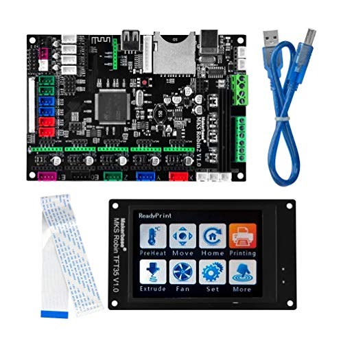 KOOKYE 3D Printer Parts MKS Robin 2 V1.0 Integrated Circuit mainboard Controller Motherboard with Robin TFT35 Display Closed Source Software with FFC Line & USB Cable -