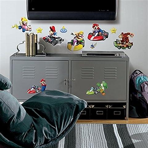Tatuaje de pared de Super Mario Kart Wii tatuaje artístico excepcional diseño permite la pared de un diseño atractivo