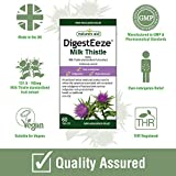 Natures Aid DigestEeze Milk Thistle, Relief of Over-Indulgence, Indigestion, Upset Stomach, Vegan, 60 Tablets