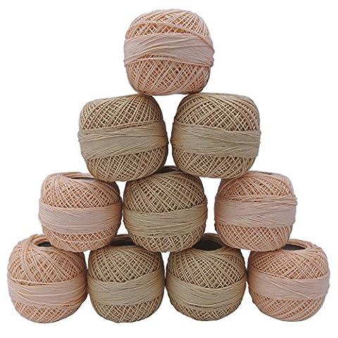 10 Pcs en coton mercerisé fil à crocheter Spun Knitting boule Frivolité Broderie