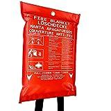 Löschdecke Brandschutzdecke I 1,2x1,2 m große Feuerlöschdecke DIN EN 1869 geprüft I Erste Hilfe & Sicherheit für Arbeit Haushalt & Freizeit