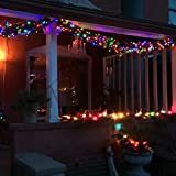 LE 10m 100 LED Festoon Lights, Plug in Multi Colored Globe String Lights, 8 Modes Water Resistant Fairy Lights for Party, Garden, Patio and More Bild 9