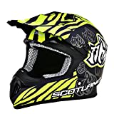 Scotland - Casco moto cross, negro mate, talla 57 - 58 (M)