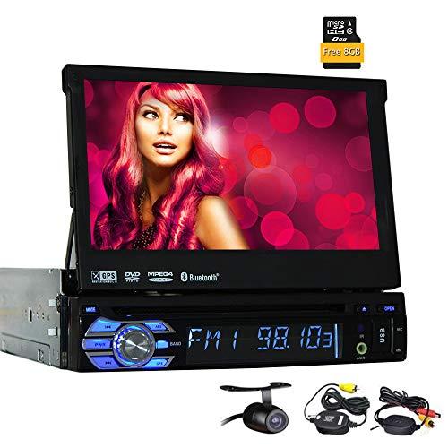 EINCAR allgemeinhin für Einzel Din Fahrzeug Autoradio GPS In Dash Navigation-Screen-Auto-DVD-Spieler GPS-Navigationssystem Stereo Unterstützung Bluetooth/SD/USB/AM/FM Radio mit WLAN-Kamera, (/ Am W Fm Radio Remote)