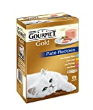 Purina Gourmet Gold Cat Food Pate Recipes, 12 x 85 g - Pack of 8