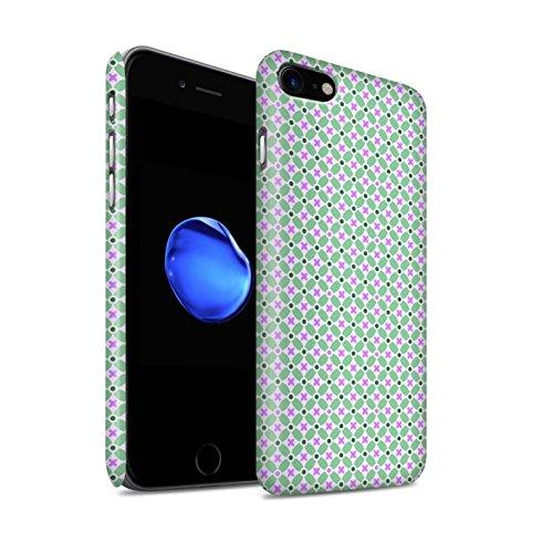 STUFF4 Matte Snap-On Hülle / Case für Apple iPhone 8 / Grün Muster / Windmühle Kollektion Grün