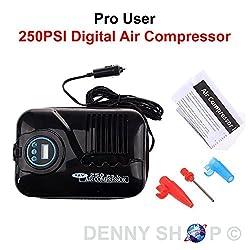 Portable Pro User 12v Digital Travel Air Compressor Electric Car Pump 250psi Car Tyre Care Tool