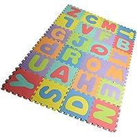 "EVA foam puzzle mat,Kids Puzzle Alphabet,Play Mat,26 Titles EVA Foam Mat for Kids,12"" by 12"""