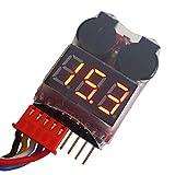 ITGadgets24 - 1S - 8S Lipo Alarm Warner Schutz Checker Voltage Pieper 1S 2S 3S Buzzer - EXTRA LAUT -